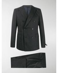 Tonello Pinstripe Double-breasted Suit - Blue