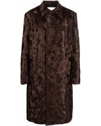 1017 ALYX 9SM Faux-fur Single-breasted Coat - Brown