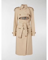 Burberry Trench destrutturato in cotone e shearling - Neutro
