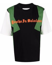 Youths in Balaclava Colour-block Cotton T-shirt - Black