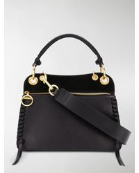 See By Chloé Whipstitch Paneled Tote Bag - Black