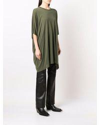 Rick Owens DRKSHDW Longline Silk-blend T-shirt - Green