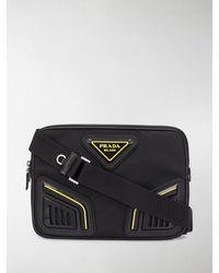 Prada Black Nylon Crossbody Bag Nd Uomo