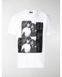 Raf Simons T-Shirt mit grafischem Print - Weiß