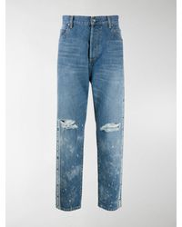 Balmain Jeans mit Logo-Streifen - Blau
