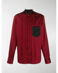 Lanvin Bomber-style Collar Shirt - Red
