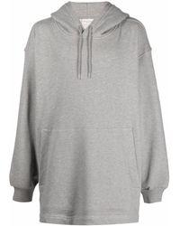 Dries Van Noten Drawstring Pullover Hoodie - Grey