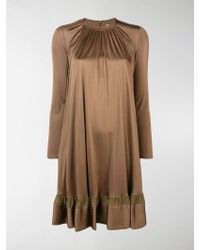 Chloé Long-sleeve Dress - Brown