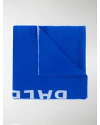 Balenciaga Jacquard Logo Scarf - Blue