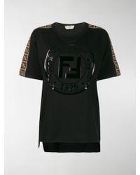 Fendi Ff Logo T-shirt - Black