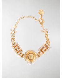 Versace - Medusa Round Chain Bracelet - Lyst