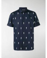 Neil Barrett - Thunder Print Shirt - Lyst