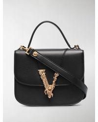 Versace Small Virtus Top Handle Bag - Black