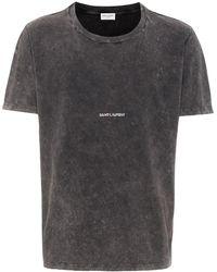 Saint Laurent T-shirt effetto consumato - Multicolore