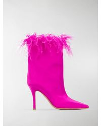 AMINA MUADDI Pointed Ankle Boots - Pink