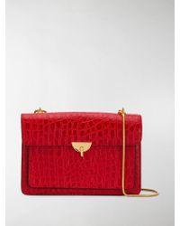 Dries Van Noten Crocodile-effect Shoulder Bag - Red