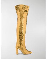 Paris Texas - Snakeskin Effect Boots - Lyst