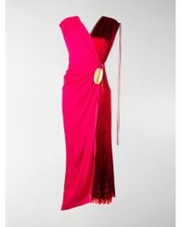Marni Wrap-around Bicoloured Dress - Pink