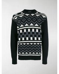 Prada - Shetland Knit Jumper - Lyst