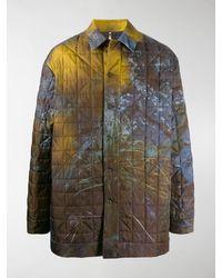 OAMC Foliage Print Coat - Yellow