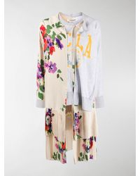 Junya Watanabe Floral Layered-panel Sweatshirt - Multicolour