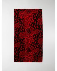 Alexander McQueen Floral Pattern Beach Towel - Red