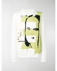 Rick Owens Drkshdw Patch Printed Sweatshirt - White