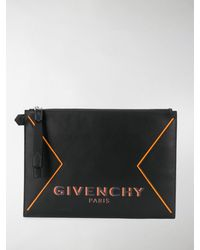 Givenchy Printed Logo Pouch - Black