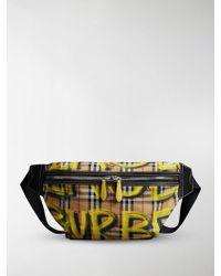 Burberry - Vintage Check Graffiti Bumbag - Lyst