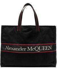 Alexander McQueen Borsa tote East West - Nero