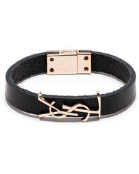 Saint Laurent Armband aus Leder - Schwarz