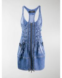 DSquared² Denim Mini Dress - Blue