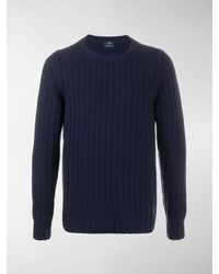 Mp Massimo Piombo Ribbed Knit Sweater - Blue
