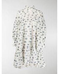 Cecilie Bahnsen Macy Floral Mini Dress - White