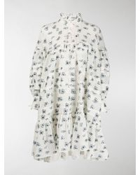 Cecile Bahnsen Macy Floral Mini Dress - White