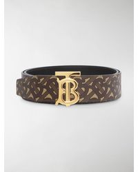 Burberry Cintura con monogramma TB - Marrone