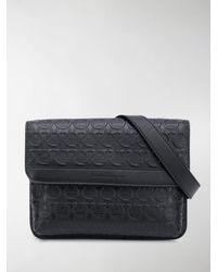 Ferragamo Gancini Embossed Belt Bag - Black