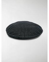 Saint Laurent Diamanté Embellished Beret - Black