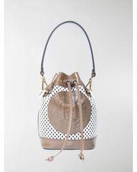 Fendi Mini Mon Tresor Bucket Bag - White