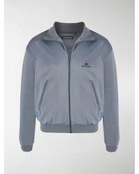 Balenciaga Chest Logo Track Jacket - Blue
