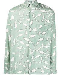 Jacquemus Baou Hemd mit Print - Grün