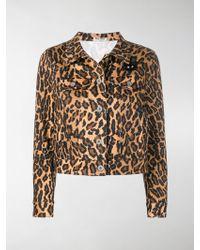 Miu Miu - Leopard Denim Jacket - Lyst