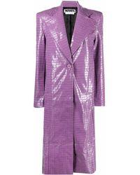 ROTATE BIRGER CHRISTENSEN Eliane Glossy Coat - Purple