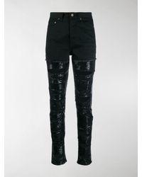 Saint Laurent Sequin Embellished Ripped Jeans - Black