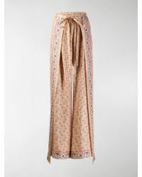Chloé Wrap-effect Trousers - Multicolour