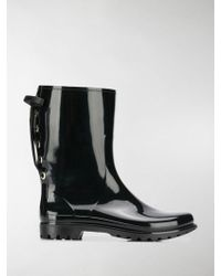 RED Valentino Laced-up Rain Boots - Black