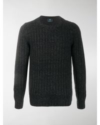 Mp Massimo Piombo Ribbed Knit Sweater - Gray