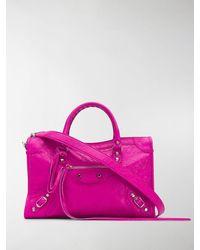 Balenciaga Mini Classic City Shoulder Bag - Pink