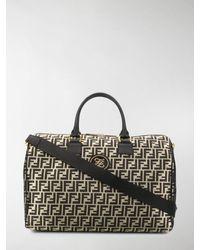 Fendi Ff Motif Travel Bag - Metallic