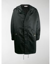 Givenchy Hooded Mid-length Raincoat - Black